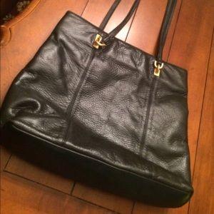 Sharif Black Leather Purse